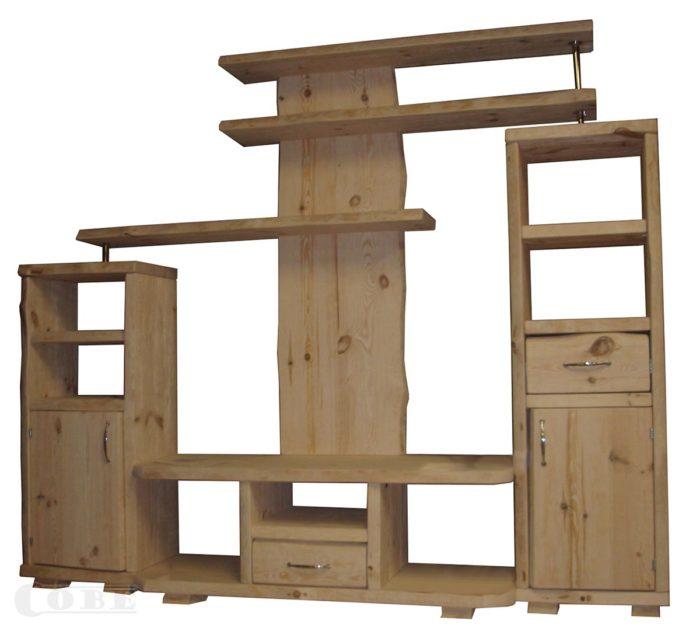 Täispuit elutoa sektsioon puidust riiulid puitmööbel massiiv puit kapp riiul