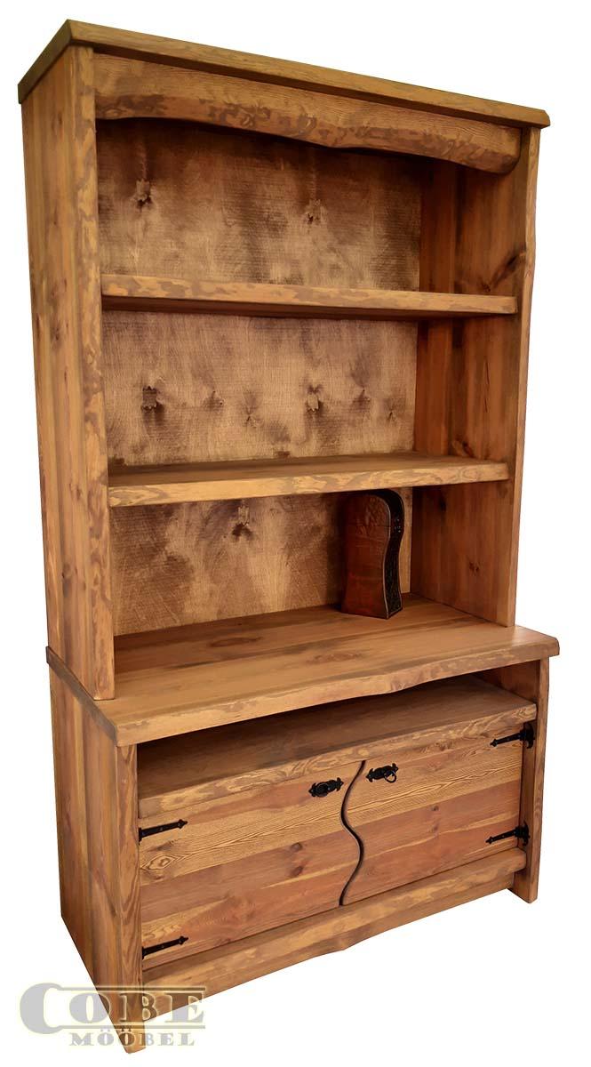 täispuidust kapp-riiul puitmööbel